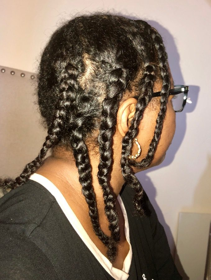 Low Manipulation Braid Styles Styling Fine Natural Hair With Braids